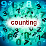 Numbers Counting Represents One Two Three And Learn Stock Photography