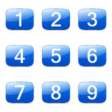 Numbers Counting Square Vector Blue Icon Stock Photography