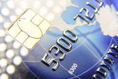 Numbers on credit card close-up Royalty Free Stock Photo