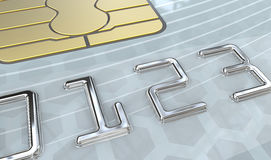 Numbers on credit cards Stock Image