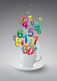 Numbers cup Royalty Free Stock Images
