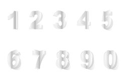 Numbers cut from paper Royalty Free Stock Image
