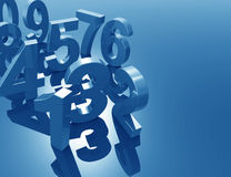 Numbers 3d concept. Design in blue Royalty Free Stock Image