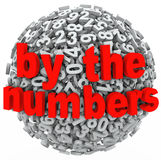 By the Numbers Data Number Sphere Research Intelligence Analysis Royalty Free Stock Photos