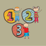 Numbers Design Stock Image
