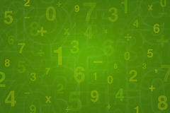Numbers design for Mathematics background Royalty Free Stock Photos
