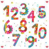 Numbers design Stock Images