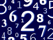Numbers digits characters figures. Background color Stock Images