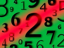 Numbers digits characters figures. Background color Royalty Free Stock Photos