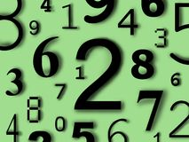 Numbers digits characters figures. Background color Royalty Free Stock Images