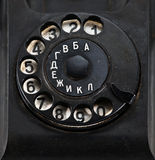 Numbers disk of retro telephone Stock Photos