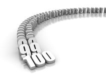 Numbers domino effect Royalty Free Stock Images
