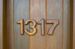 Numbers of doors, room door, wooden door Stock Photo