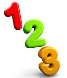 123 Numbers. Education concept 123 colorful numbers Royalty Free Stock Photography