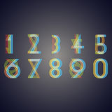 Numbers with effect of  interference Stock Photo