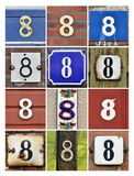 Numbers Eight Stock Images