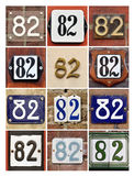Numbers Eighty-two Stock Photos