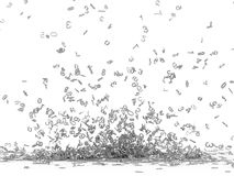 Numbers exploded royalty free illustration