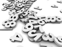 Numbers Falling Stock Image