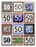 Numbers Fifty Royalty Free Stock Image