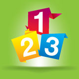 Numbers 123. The first numbers 123 illustration royalty free illustration