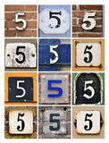 Numbers Five Royalty Free Stock Photography