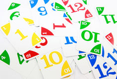 Numbers Flashcards. Colorful cards or flashcards for learning numbers and teaching colors Stock Photography