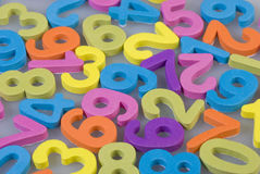 Numbers of foam Royalty Free Stock Images