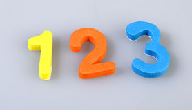 Numbers of foam Stock Image