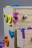Numbers of foam Stock Images