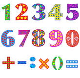 Numbers. Font. Stock Photography