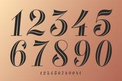 Numbers font. Classical elegant font royalty free illustration