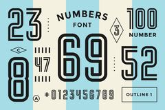 Free Numbers Font. Sport Font With Numbers And Numeric Stock Photos - 126381513