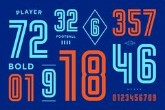 Numbers font. Sport font with numbers and numeric vector illustration