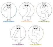 Free Numbers For Coloring Books, Part 1 Stock Images - 16547414