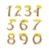 Numbers in the form of a tree Royalty Free Stock Image