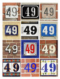 Numbers Forty-nine Stock Photos