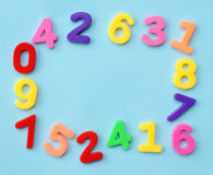 Numbers frame Royalty Free Stock Photos