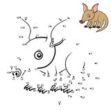 Numbers game, Aardvark. Numbers game, education dot to dot game for children, Aardvark Royalty Free Stock Photo