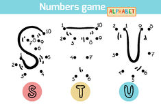 Numbers game (Alphabet): letters S, T, U Royalty Free Stock Photo