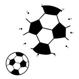 Numbers game for children. Ball for football, soccer Stock Image