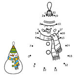 Numbers game for children. Christmas toys, snowman Stock Image