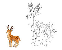 Numbers game for children (deer) Stock Photography