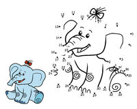 Numbers game for children: elephant Stock Image