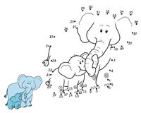 Numbers game for children: elephants. Numbers game for children, education game: elephants Royalty Free Stock Images