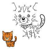 Numbers game for children (ginger cat). Numbers game, education game for children (ginger cat Royalty Free Stock Photo