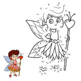 Numbers game for children: little fairy. Numbers game for children, education game: little fairy Stock Images