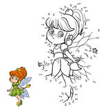Numbers game for children: little fairy. Numbers game for children, education game: little fairy Royalty Free Stock Photos