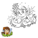 Numbers game for children: little fairy. Girl Stock Image