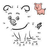 Numbers game for children. Little pig Royalty Free Stock Images